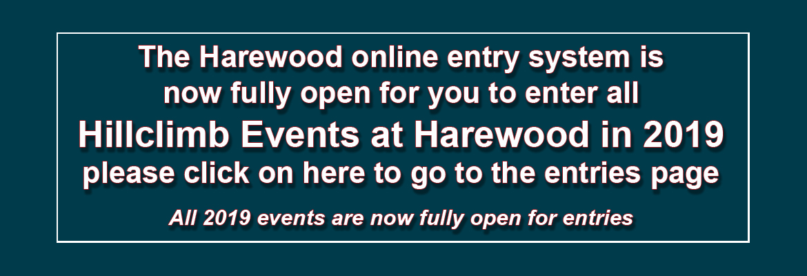 Harewood entries now open