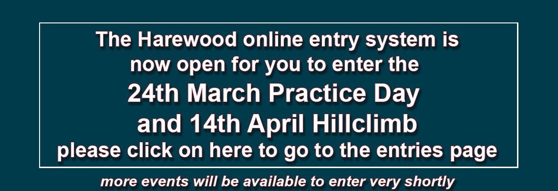 Harewood entries now opon