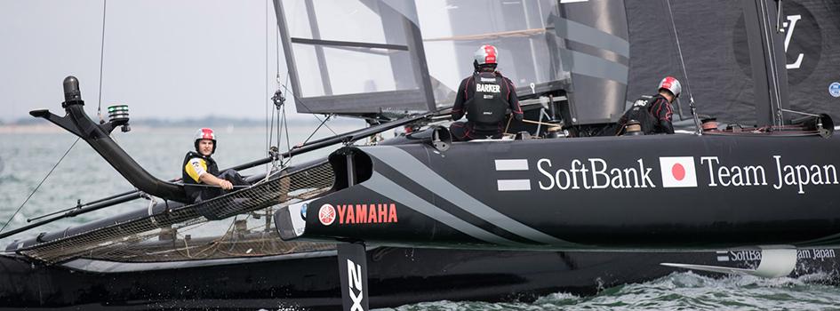 James on Team Japan Amercia's Cup Yacht