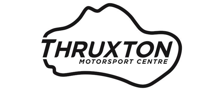 Image of Thruxton logo sticker - black