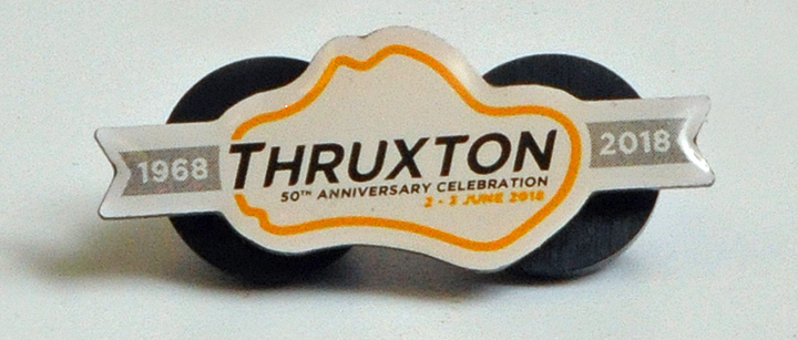 Image of Thruxton 50th anniversary pin badge