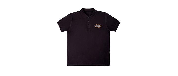Image of Thruxton Black Polo Shirt - Mens