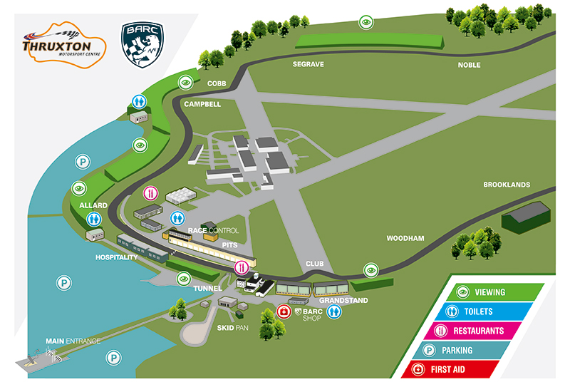Thruxton Circuit Map