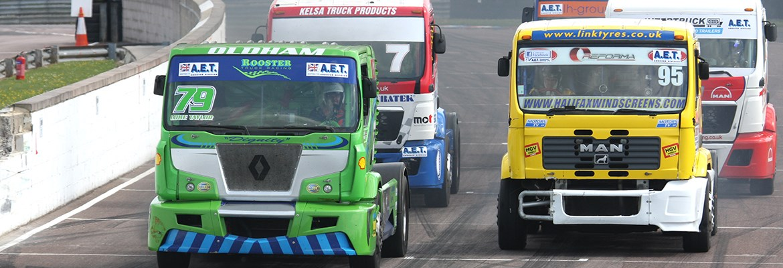 Photo of trucks racing at Thruxton